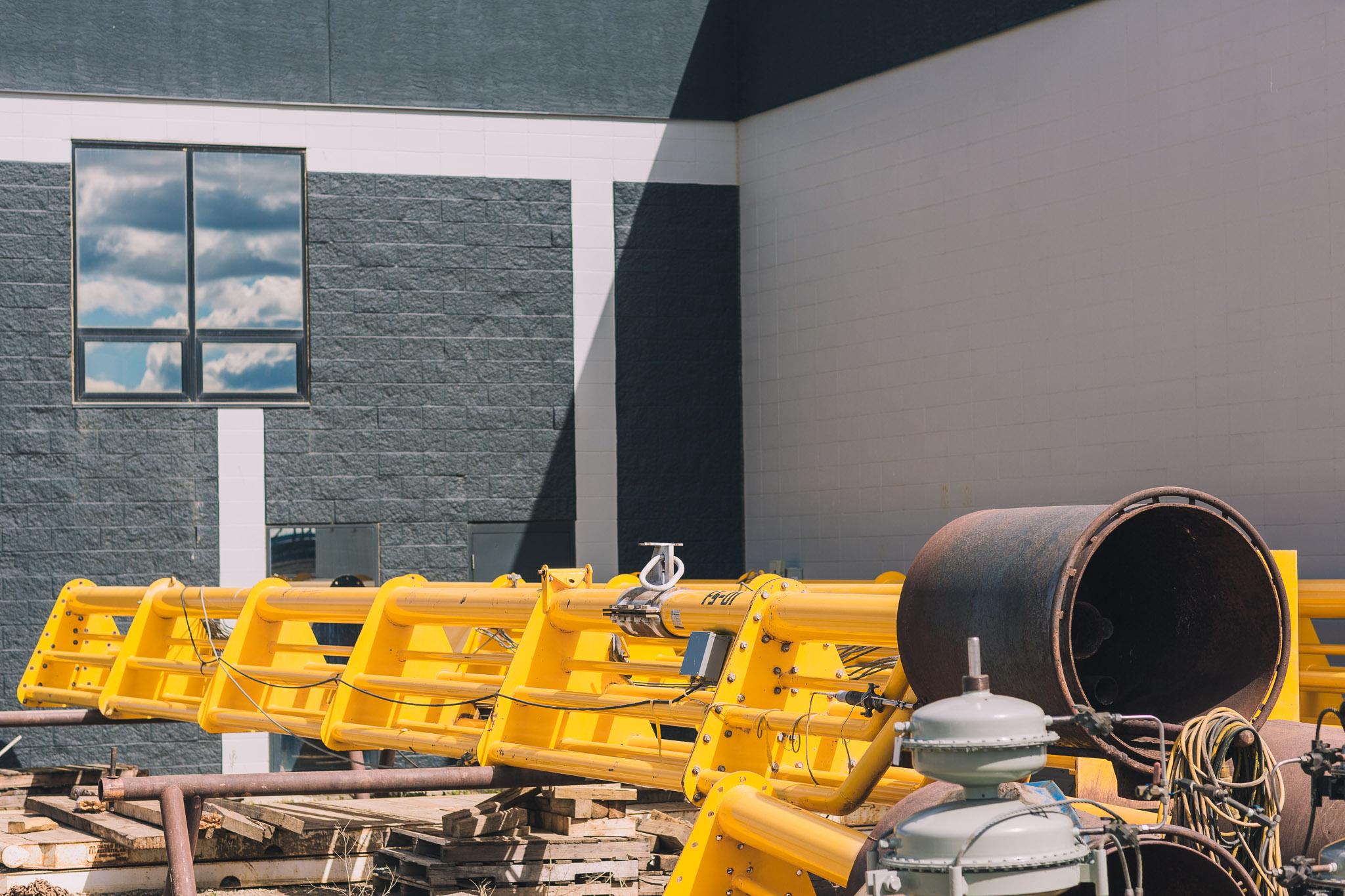 Oilfield rental equipment, well frac flowback